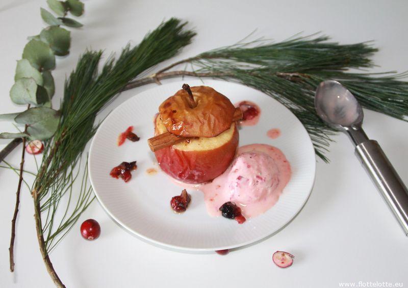 FlotteLotte Bratapfel mit Cranberryeis_21